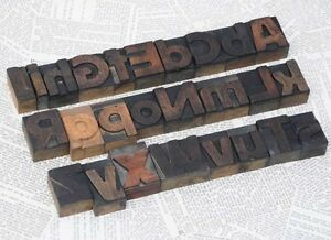 A z Mixed Alphabet 1 77 Letterpress Wood Printing Blocks Type Font Letterform