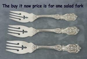 One Francis 1 Sterling Silver 6 1 8 Dessert Salad Fork Old Mark Clean No Mono
