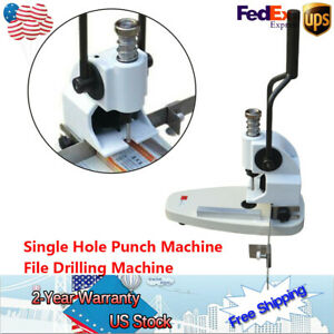 Single Hole Punch Machine File Drilling Machine For 3 5cm Thick Paper B3 Steel