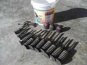 Farmall Md Diesel Tractor Ihc Ih Engine Motor Head Valves Springs Keepers Pieces