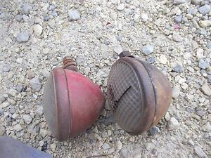 Farmall Cub A B C Tractor Pair Of 2 Original Working Front Ih 6v Lights Light