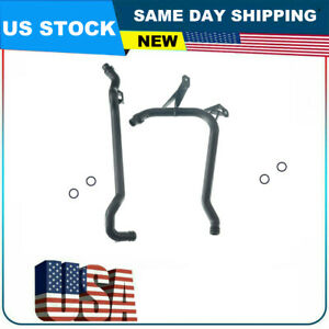 Water Engine Heater Inlet Coolant Pipe 11531705210 11537502525 For Bmw Set 2