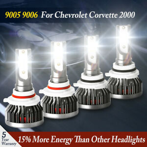 Auto Cree Power Front 9006 9005 Led Headlight Kits For Chevrolet Corvette 2000