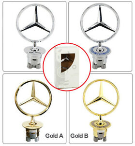 For Mercedes Benz Star 3d Standing Badge Logo Hood Emblems Fit S260 C200 Clk430