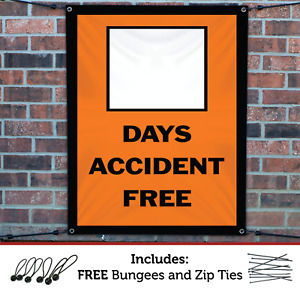Half Price Banners Blank Days Accident Free Banner Indoor outdoor 4 x3
