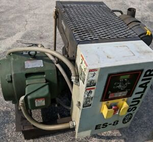 30 Hp Es 8 Sullair Rotary On Open Skid Mount 3 Phase Used