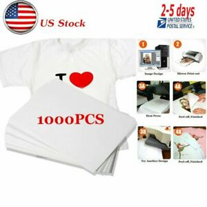 1000 Sheets A4 Dye Sublimation Heat Transfer Paper For Polyester Cotton T Shirt