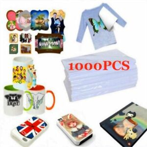 1000pcs A4 Sublimation Heat Transfer T shirt Iron on Paper For Dark light Fabric