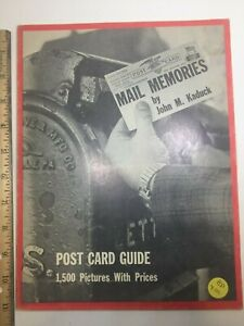 Reference Book Post Card Guide 1500 Pictures Prices 1971 68 Pages B W