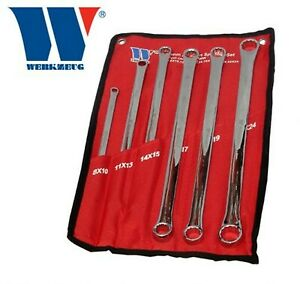 Extra Long Aviation Ring Spanner 6 Piece Set 8mm 24mm 816 ww Welzh Werkzeug