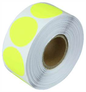 0 75 Adhesive Code Labels Yellow Dot Inventory Sale Coding Stickers 12 Rolls