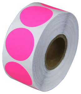 0 75 Adhesive Code Labels Pink Dot Inventory Sale Coding Stickers 12 Rolls