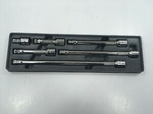 Snap On Tools 6pc 3 8 Dr Wobble Extension Set 206afxwp 1 5 3 4 6 8 11