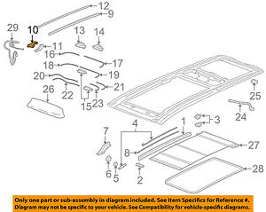Cadillac Gm Oem 04 09 Srx Sunroof Rear Guide Right 25747592