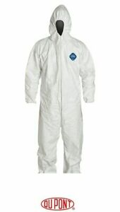 Tyvek Ty127s Coverall Bunny Suit W hood Elastic Wrist ankles Various Quantities