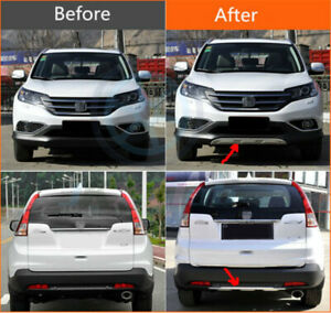 For Honda Crv 2012 14 Aluminum Front Rear Bumper Protector Skid Guard Steel J