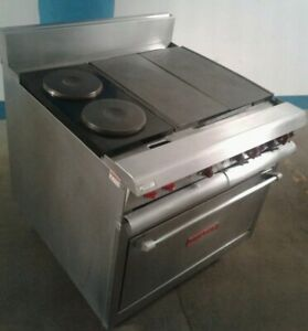 Vulcan Electric Heavy Duty Range Vr6 Oven French Plates All Purpose Plates