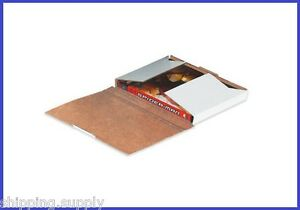 50 Pack Single Dvd White Corrugated Mailer Shipping Boxes