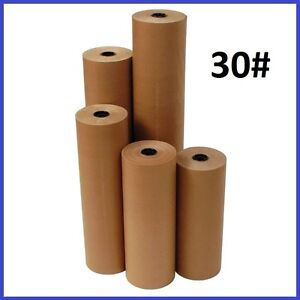 30 Wt Kraft Brown 1200 Roll Shipping Wrapping Void Fill Paper 12 Sizes Avail