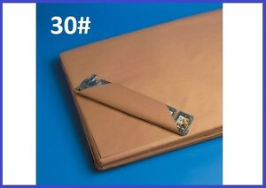 30 Wt Pre cut Kraft Shipping Wrapping Paper Sheets Case Qty 7 Sizes Avail