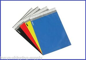 100 Colored 12 X 15 1 2 Poly Mailer Plastic Shipping Bags Pick Your Color