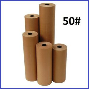 50 Wt Kraft Brown 720 Roll Shipping Wrapping Void Fill Paper 10 Sizes Avail