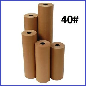 40 Wt Kraft Brown 900 Roll Shipping Wrapping Void Fill Paper 10 Sizes Avail