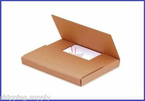 50 Count Kraft Multi Depth Media Mailer Bookfold Book Shipping Box 25 Sizes