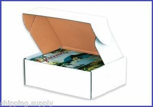 50 Pack Tab Lock White Literature Mailer Shipping Boxes 45 Sizes Available