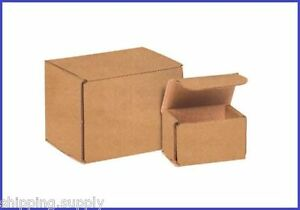 50 Pack Kraft Corrugated Brown Mailer Shipping Boxes 46 Sizes Available