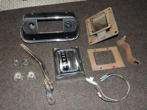 Vintage Fomoco 573 Mustang Automatic Shifter Bezel And Radio Bezel With Extras
