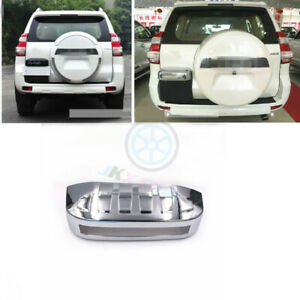 Abs Chrome Rear Trunk License Cover Trim J For Toyota Lc Prado Fj120 2003 2009