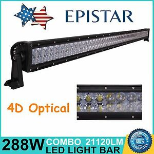 4d 50inch 288w Led Light Bar Combo Truck Suv Offroad Driving Ford Lamp Pk 48 52