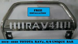 2019 2020 Toyota Rav4 Stainless Unique Front Bull Bar Bumper Guard Protector