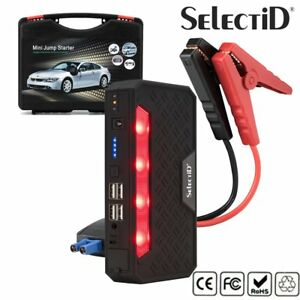 Portable 12v Mini Jump Starter 68800 Mah Booster Power Battery Bank Car Jumper