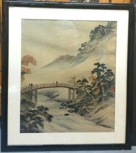 Antique Chinese Silk Woven Painting Signed Framed With Special Glass