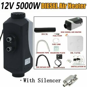 5kw Diesel Air Heater 12v Tank Vent Duct For Car Truck Motor home Bus Trailer
