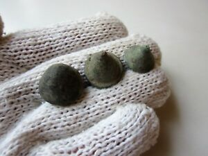 Lot Of 3 Ancient Roman Bronze Game Legionary Knuckle Gaming Pieces 1 2ad