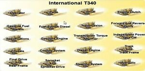 International T 340 Dozer Complete Manual Set On Searchable Cd Parts Service