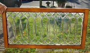 Antique Beveled Leaded Stained Glass Window Restored