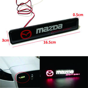 Mazda Logo Led Light Car Front Grille Badge Emblem Illuminated Bumper Sticker