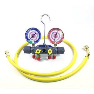 Yellow Jacket 49965 Titan 4 valve Test Charge Manifold F c
