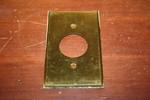 Vintage Brass Outlet Cover Plate 040 Thick Harvey Hubbell Inc