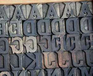 Letterpress Wood Printing Blocks 117 Pcs 1 26 Tall Alphabet Type Woodtype Rare
