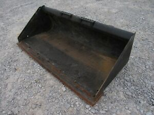 Bobcat Skid Steer 68 Smooth Construction Bucket With Bolt On Edge Ship 199
