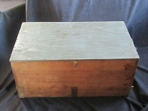 Large Old Vintage Wooden Carpenter S Hand Saw Box Toolbox Primitive Carpentry