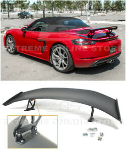 For 17 up Porsche 718 Cayman Boxster Gt4 Style Rear Trunk Lid Wing Spoiler