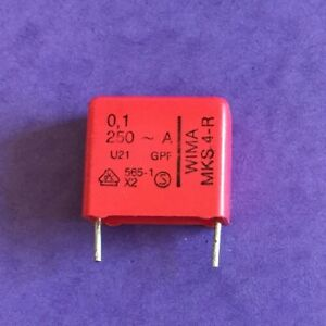 Us Stock 10 Pcs Wima Polyester Capacitor 0 1uf 100nf 250v Rs Components Germany