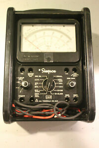Simpson 260 Series 8p Overload Protection Multimeter W Hard Slide Cover Case