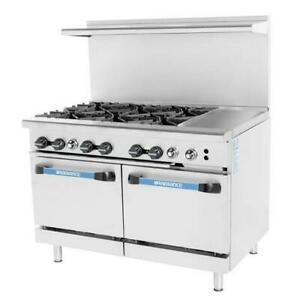Turbo Air Targ 6b12g 48 In 6 Burner Gas Range W 12 In Right Side Griddle